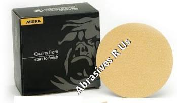 Mirka Gold 5 Inch No Hole PSA Heavy Duty  36 60 Grit Sanding Discs