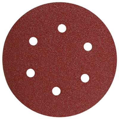 6 Inch 6 Hole Hook and Loop Wood Sanding Discs 5 Pack by Bosch