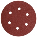 Bosch 6 Inch 6 Hole Hook and Loop Wood Sanding Discs 5 Pack