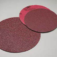 6 Inch Premier Red Plain Coarse Discs 80 Grit by Carborundum Abrasives