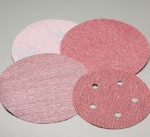 Carborundum 6 Inch 6 Hole Red Hook and Loop Discs Grits 80 - 1000