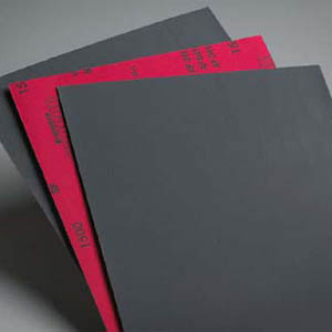 Waterproof 9 x 11 Sanding Sheets Fine Grits 1000 - 2000 by Carborundum Abrasives