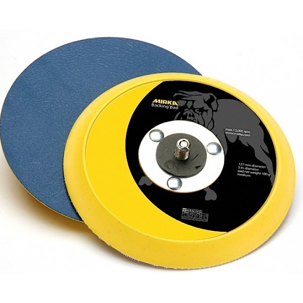 106 6 Inch 5 16x24 Spindle Vinyl-Face PSA Backup Pad by Mirka Abrasives
