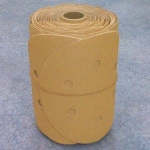 Premium Gold 6 Inch 6 Hole PSA Sanding Discs Roll 220 Grit