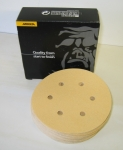Mirka Gold 6 Inch 6 Hole 220 Grit Hook n Loop Discs