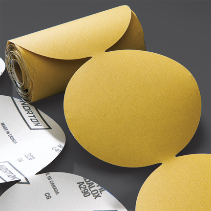 Gold PSA 100 Disc Roll 5 Inch Discs Grits 60 - 400 by Norton Abrasives