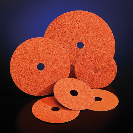 SG Blaze Fibre Grinding Disc 9 1 8 Inch Grits 24 - 50 by Norton Abrasives