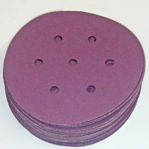 1950 speed Hook Loop Discs 6 Inch 7 Hole Grits 40 - 600 by Sia